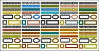 Vari��t�� de mat��riaux classique dentelle s��rie vecteur-1