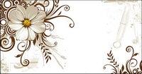 Wilde Chrysantheme und Mode Muster Vektor Matte