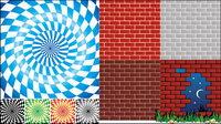 Spin celos¨ªa de vectores y material de la pared de ladrillo