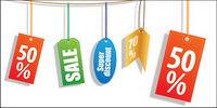 Ventas de descuento etiqueta vector de material decorativo
