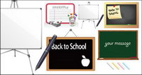 Blackboard whiteboard material vector