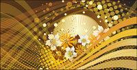 Flower Hintergrund Vektor-Linien und die Bewegung des Materials