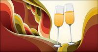 Champagner-Gläser Vector Hintergrund Material Trends