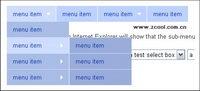 Para bloquear el men¨² desplegable formulario en el men¨² desplegable CSS + JS