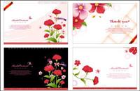 carte de mod��le Fleurs mat��riel vecteur
