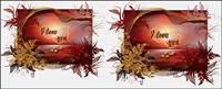 material especial de San Valent¨ªn D¨ªa de vectores tarjetas