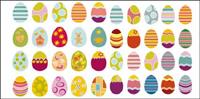 Una variedad de huevos de Pascua material vectoriales