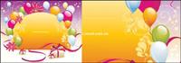 Ballon vecteur de base de cartes-cadeaux mat��riels