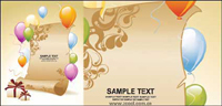 Paper presents the background of the balloon material vector