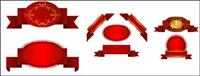 Plusieurs ��toffe rouge vecteur ruban ruban