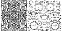 Pratiques mat��riau noir et blanc vecteur dentelle