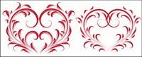 4 Les mat��riels de belles vecteur forme en forme de coeur
