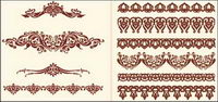 European-style lace pattern vector material