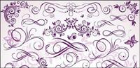 Purple vecteur forme fine mat��riel