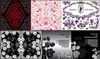 10 schöne Muster Vektor Material