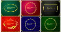 9 de oro material encajes sombra vector
