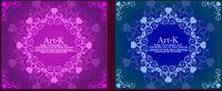 2 Zeilen mit schöner Spitze Vector Material