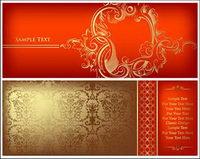 Oro vector patr��n adornado material