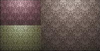 European-style gekachelten Hintergrund Muster Vektor Material