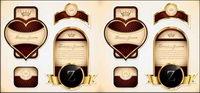 Las etiquetas de Oro botella de vino borde vectoriales