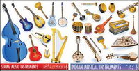 Musical icône vecteur instrument