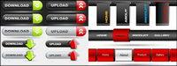 Web Design vecteur bouton de la barre de navigation mat��riel