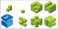 Vector logo graphique cube mat��riel
