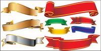 Vector Banner Material mehrere Bänder Bänder