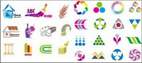 Variety of graphic design vector material
