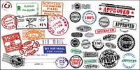 Ausländische Stempel Poststempel Vektor Material