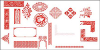 China Bellas patrn clsico vector de material