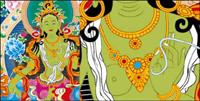 Thangka Ai Stellen des Gesetzes, Vajradhara Vektor (Mautstellen nicht ändern)