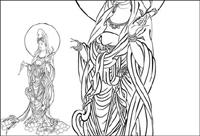 Bodhisattva der Barmherzigkeit (Vektorisierung)