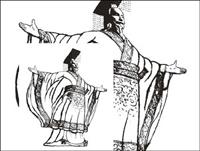 Les dessins au trait mat��riel vecteur empereur