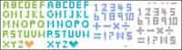 lettres style Pixel et du mat��riel vecteur num��ros