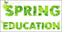 Spring green letters Vector material