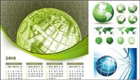 Earth Thema Vektor-Material