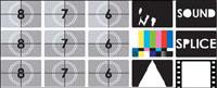 TV Testbild Vektor Material