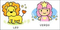 Cartoon 12 Konstellation Vektor Material (A-2)