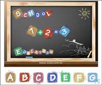 Cartoon Wirkung der Buchstaben und Zahlen Vektor Material