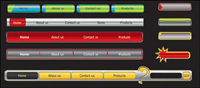 Web-Design Navigationsmen�� Vektor Material