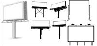 Variedad de tipos de vallas al aire libre plantilla vector de material