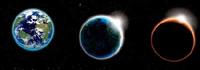 Planeta espacio vectorial material