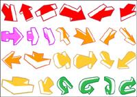 Una variedad de flechas y un material de otro vector