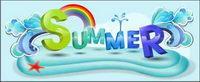 Summer Theme Vektorfont Design Material