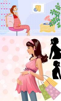 Schwangerenmode Vector Material