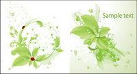 Vector coccinelle verte gouttes mat��riel foliaire