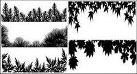 Mat��riel de vecteur silhouette diverses feuilles
