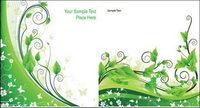 Vector plantes en rotin vert mat��riel