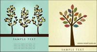 Lovely Blume Baum Vektor Material